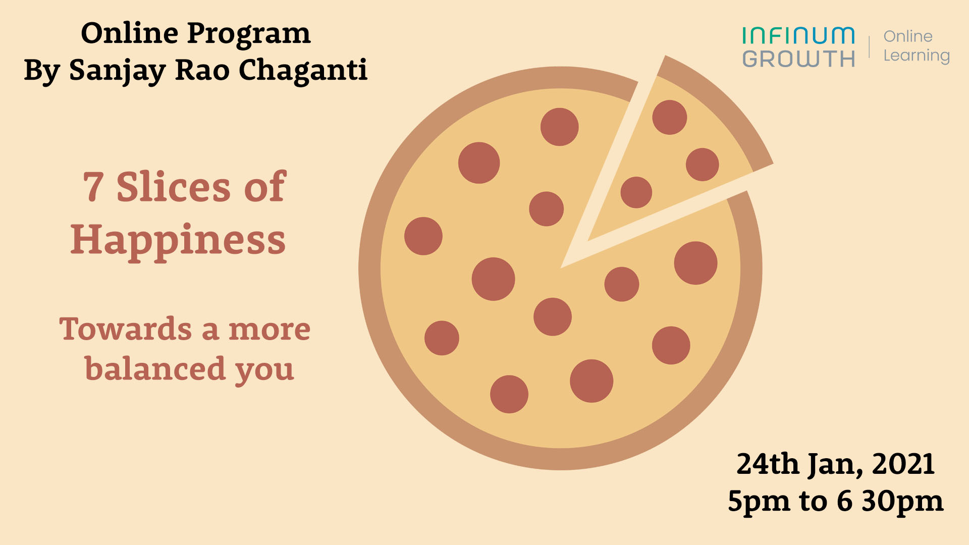 7 Slices of Happiness – Towards a more Balanced You; Online Program